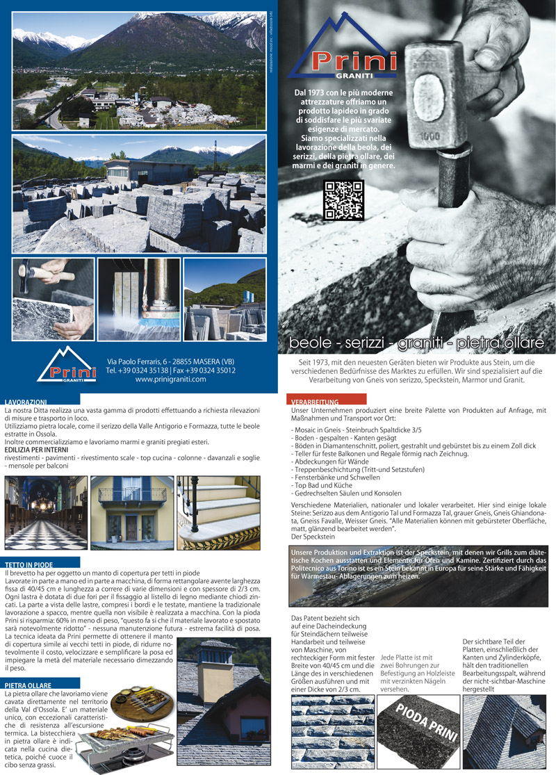 Switzerland brochure Italian Marble and Granite